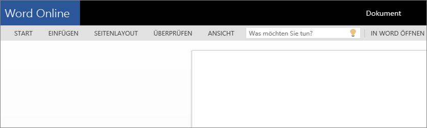 Öffnen von Word Online