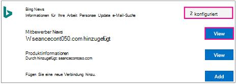 """Verbinder mit hervorgehobenen Schaltflächen """"Konfigurieren"""" und """"Anzeigen"""""""