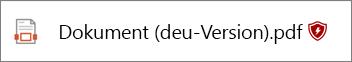 Wenn eine Datei gesperrt ist, wird eine Markierung am Ende der Name der Datei angezeigt werden.