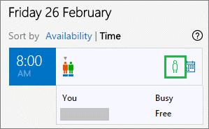Statusleiste für eingeladene Personen