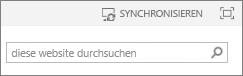 Synchronisierungslink oben auf der Seite in SP2013