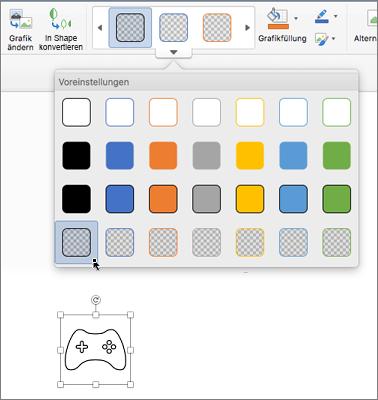 Bearbeiten des Grafikstils eines Symbols