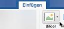 """Wählen Sie in der Symbolleiste """"Einfügen"""", """"Bilder"""" und dann """"Onlinebilder"""" aus."""