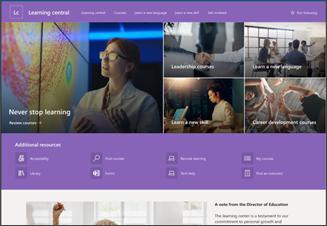 Abbildung der Vorlage für eine Lernwebsite