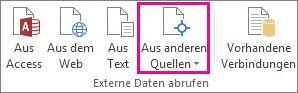 Schaltfläche 'Aus anderen Quellen' auf der Registerkarte 'Daten'
