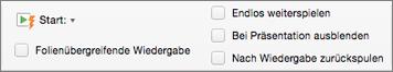 """Audiooptionen auf der rechten Seite der Registerkarte """"Audioformat"""""""