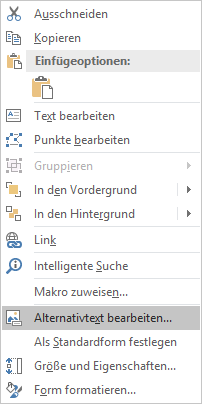 Excel Win32 Menü Alternativtext für Formen bearbeiten