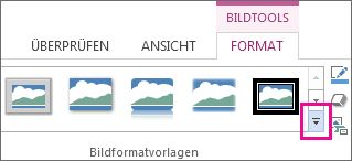 Katalog 'Bildformatvorlagen'