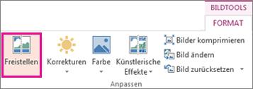 Schaltfläche 'Hintergrund entfernen' in der Gruppe 'Anpassen' auf der Registerkarte 'Format' unter 'Bildtools'