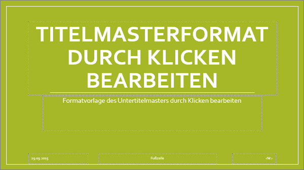 Folienmasterlayout in PowerPoint
