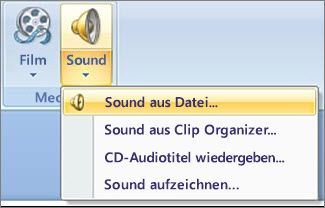 "Menü ""Sound"""