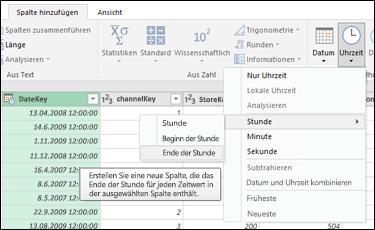 Power Query – Extrahieren des Stundenwerts für Anfang/Ende aus einer Date/Time- oder Time-Spalte im Abfrage-Editor