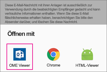 OME Viewer mit Gmail auf Android 2