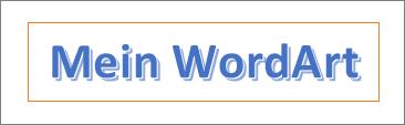 Beispiel für WordArt