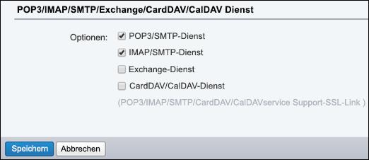 Wählen Sie POP3/SMTP und IMAP/SMTP aus.