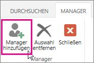 Manager hinzufügen