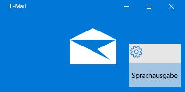 Übersicht über Mail für Windows 10 und die Sprachausgabe