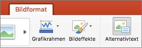 """Schaltfläche """"Alternativtext"""" im Menüband in PowerPoint für Mac"""