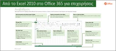 Μικρογραφία για τον οδηγό μετάβασης από το Excel 2010 στο Office 365