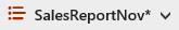 Κουμπί επιλογών προβολής του SharePoint Online με αστερίσκο