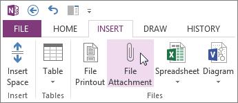 Εισαγωγή αρχείου ως συνημμένου στις σημειώσεις σας