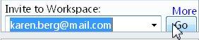 Πρόσκληση σε χώρο εργασίας μέσω μηνύματος ηλεκτρονικού ταχυδρομείου