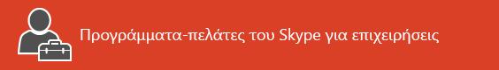 Σελίδα προορισμού πόρων προγράμματος-πελάτη Skype για επιχειρήσεις
