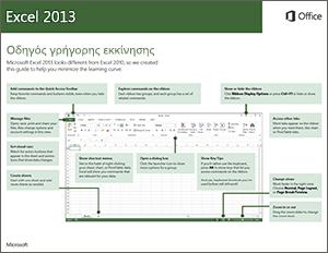 Οδηγός γρήγορης εκκίνησης του Excel 2013