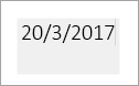Ως γκρι πλαίσιο υποδεικνύει ένα πεδίο ημερομηνίας με δυνατότητα επεξεργασίας
