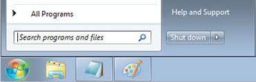 Windows 7 - Μενού Έναρξη με πλαίσιο Αναζήτηση