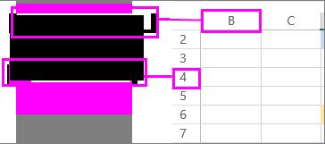 Κεφαλίδες στηλών και γραμμών σε ένα φύλλο εργασίας