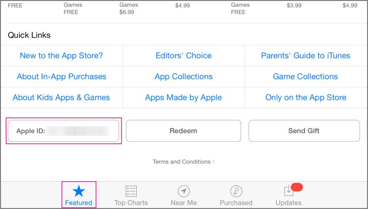 Επιλεγμένη ενότητα App store