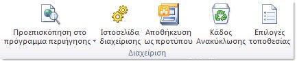 Απεικόνιση του SharePoint Designer 2010