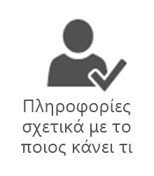 Πληροφορίες PMO σχετικά με το ποιος κάνει τι