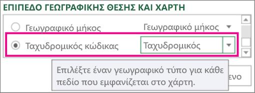 Ταχυδρομικός κώδικας αντιστοιχίζεται με κώδικα