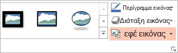 """Εμφανίζει το κουμπί Διάταξη εικόνας στην καρτέλα """"Μορφοποίηση"""""""