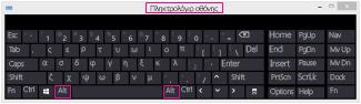 Πληκτρολόγιο οθόνης των Windows 8 με πλήκτρα Alt