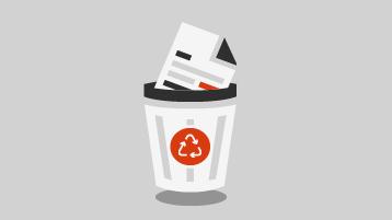 Ένα έγγραφο σε έναν Κάδο Ανακύκλωσης