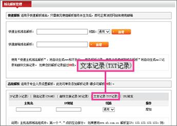 """Κάντε κλικ στην επιλογή """"文本记录(TXT记录)"""""""