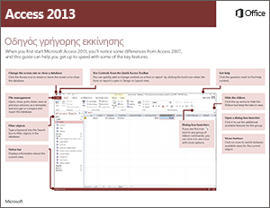 Οδηγός γρήγορης εκκίνησης της Access 2013