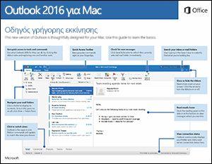 Οδηγός γρήγορης εκκίνησης για το Outlook 2016 για Mac