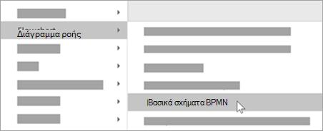 Προσθέστε BPMN βασικά σχήματα στα σχήματά σας.