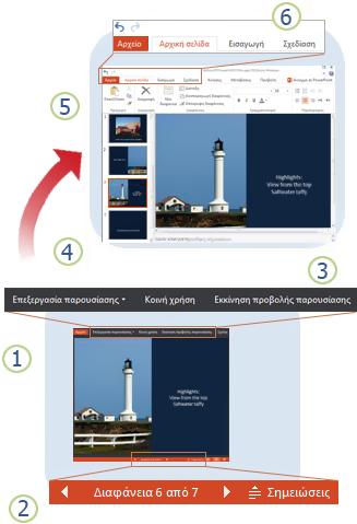Το PowerPoint Web App με μια ματιά