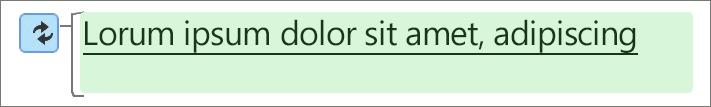 Μια πράσινη επισήμανση σημαίνει ότι το κείμενο έχει τροποποιηθεί.