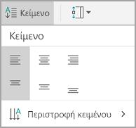 Στοίχιση κειμένου Android πίνακα