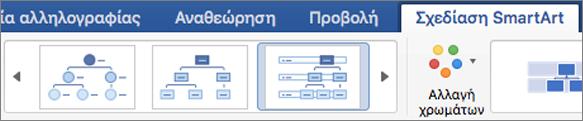 Κάντε κλικ στον τύπο σχεδίασης SmartArt