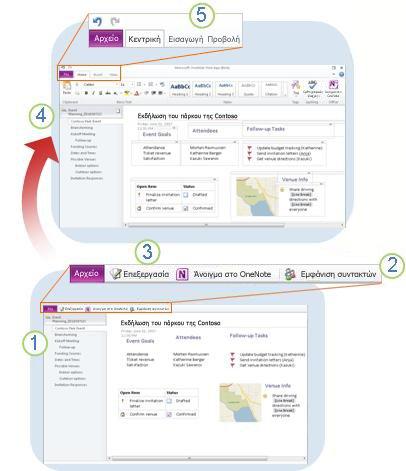 Το OneNote Web App με μια ματιά