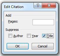 """Κλικ στο πλαίσιο ελέγχου """"Τίτλος"""" και, στη συνέχεια, κλικ στο κουμπί """"OK"""""""