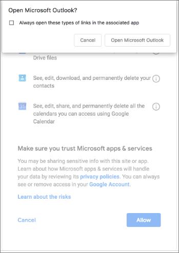 άνοιγμα του Outlook