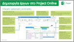 Δημιουργία έργων στον Οδηγό γρήγορης εκκίνησης του Project Online